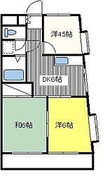 セザール武蔵小金井[206号室]の間取り