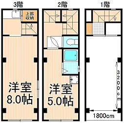 [一戸建] 東京都台東区東上野6丁目 の賃貸【/】の間取り