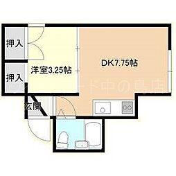 北海道札幌市豊平区平岸四条9丁目の賃貸アパートの間取り