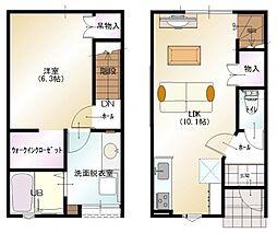 D−BOX直江[102号室]の間取り