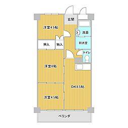 山口県下関市汐入町の賃貸マンションの間取り