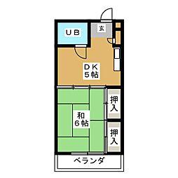 コンフォルム八幡[3階]の間取り