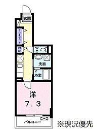 ヴィラージュ新横浜 2階1Kの間取り