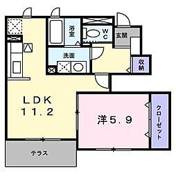 トライアンフマリンタウンD[1階]の間取り