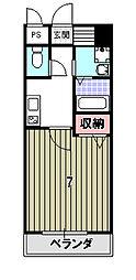 アライブ キノ[2階]の間取り