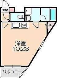 Gran Verde OKAMACHI 2階ワンルームの間取り