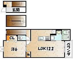 アメニティ下石田Ⅱ[3階]の間取り