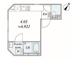 trias492 4階ワンルームの間取り