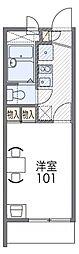 レオパレス武庫川東[2階]の間取り