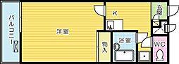 レオパレスマックハウス[307号室]の間取り