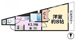 Cozyセイケン五番館[201号室号室]の間取り