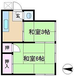 中澤アパート[2階]の間取り