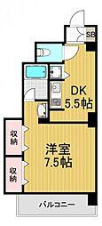 北堀江壱番館[6階]の間取り