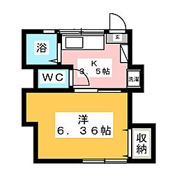 高山ハイツ[2階]の間取り