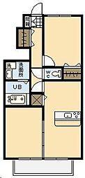 D-room加納 B棟[105号室]の間取り