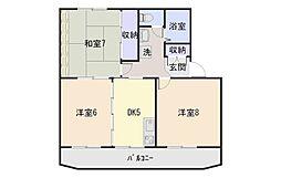 秋山ハイツA[201号室]の間取り
