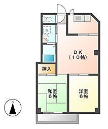 アルファ八田[5階]の間取り