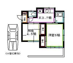 [一戸建] 東京都東久留米市下里1丁目 の賃貸【/】の間取り