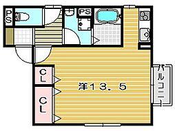 セードルIII[1階]の間取り