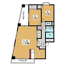 第十ショーケービル[2階]の間取り