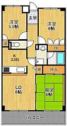 フォルテ上甲子園[4階]の間取り