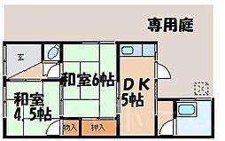 [テラスハウス] 広島県安芸郡海田町畝1丁目 の賃貸【/】の間取り
