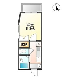 エトワール21船穂マンションA[1階]の間取り