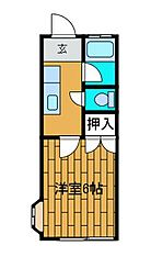 三陽ハイツ[1階]の間取り