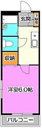 東京都西東京市東町5の賃貸アパートの間取り