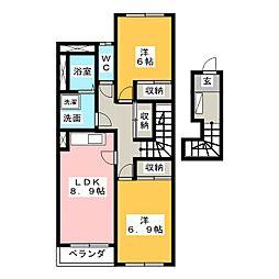 サンフォレスタ[2階]の間取り