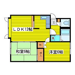 北海道札幌市東区北三十条東17丁目の賃貸アパートの間取り