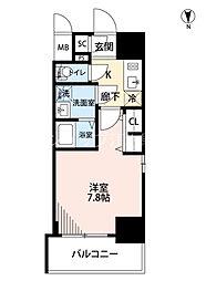 Osaka Metro御堂筋線 江坂駅 徒歩9分の賃貸マンション 10階1Kの間取り