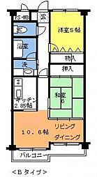 埼玉県三郷市鷹野3丁目の賃貸マンションの間取り