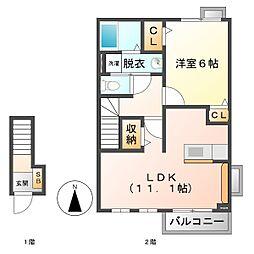 カーペント匠[2階]の間取り