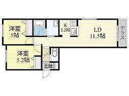 ブランシャール南円山[102号室]の間取り