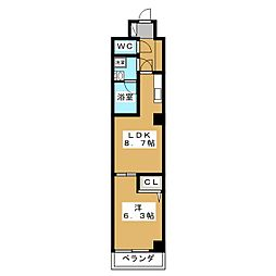 エターナルコート三条[5階]の間取り