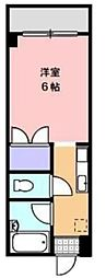 JR高徳線 志度駅 徒歩27分の賃貸マンション 3階1Kの間取り