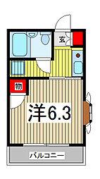 埼玉県川口市飯塚1丁目の賃貸アパートの間取り