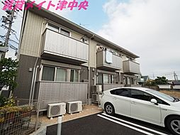 三重県津市大倉の賃貸アパートの外観