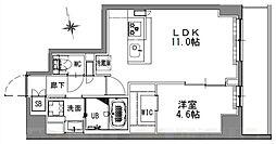 つくばエクスプレス 浅草駅 徒歩16分の賃貸マンション 6階1LDKの間取り