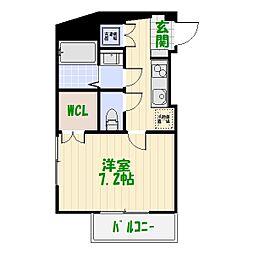 東京都葛飾区堀切4丁目の賃貸マンションの間取り