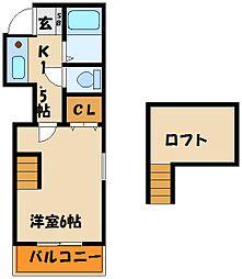 リゲル魚住[1階]の間取り