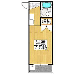 シャトーフロントナック[311号室]の間取り