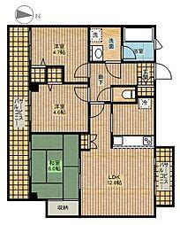 ラビータ新城[2階]の間取り