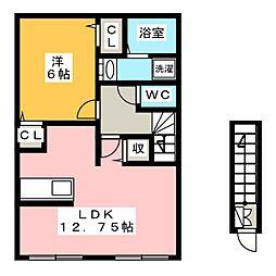 イースト ウインド[2階]の間取り