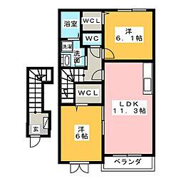 インノバールI[2階]の間取り