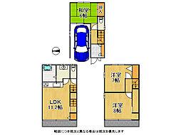 大阪市城東区東中浜5丁目 中古一戸建て 3LDKの間取り