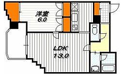 ファイブコート清水寺[5階]の間取り