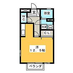 オーシャンベル[1階]の間取り