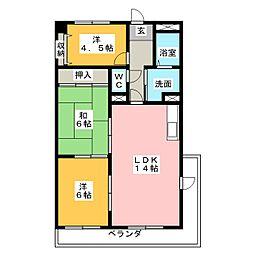 第2若杉ビル[5階]の間取り